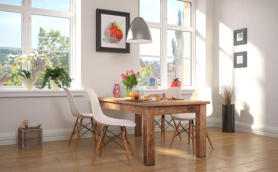Round or Rectangle Dining Table