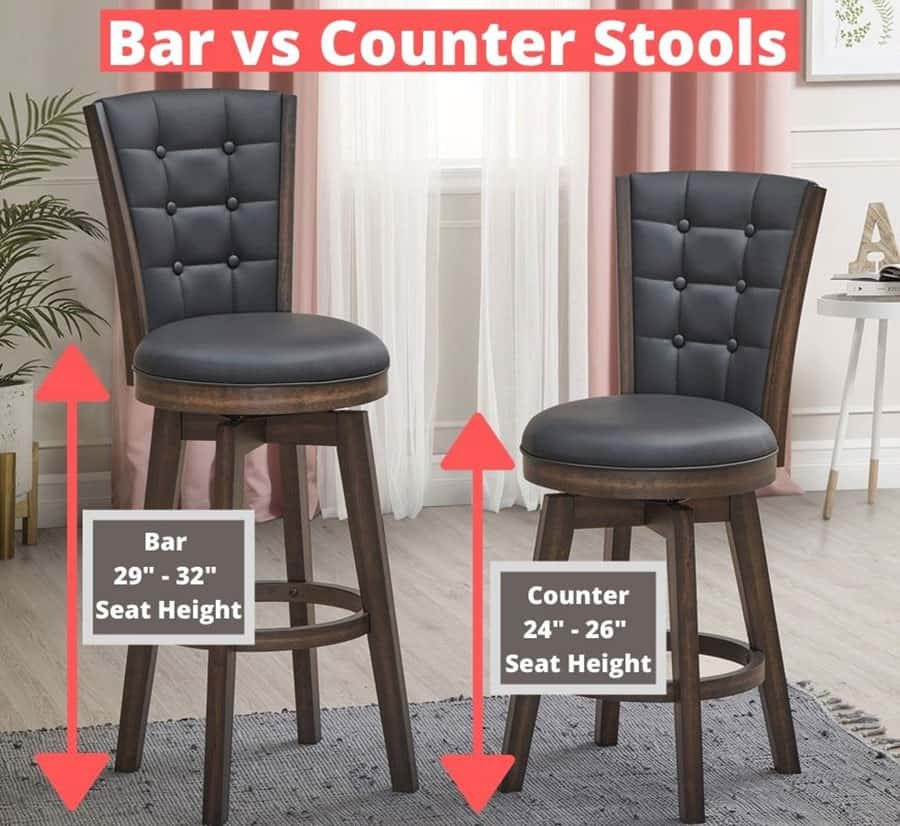 Differences Between Counter and Bar Stools