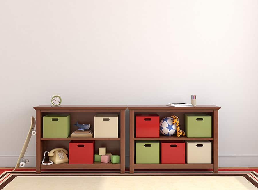 Toy Storage for Living Rooms