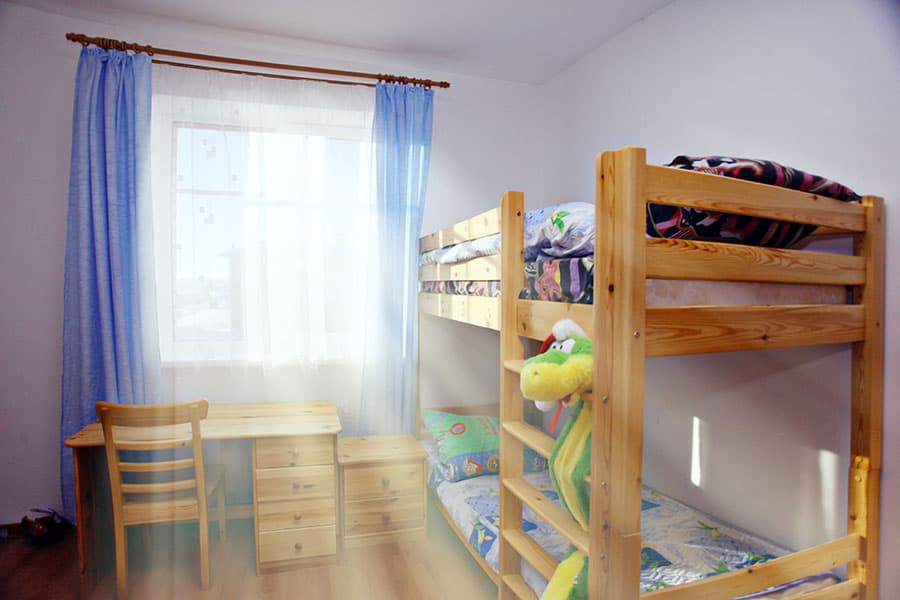 Bunk Bed Go in Front of a Window