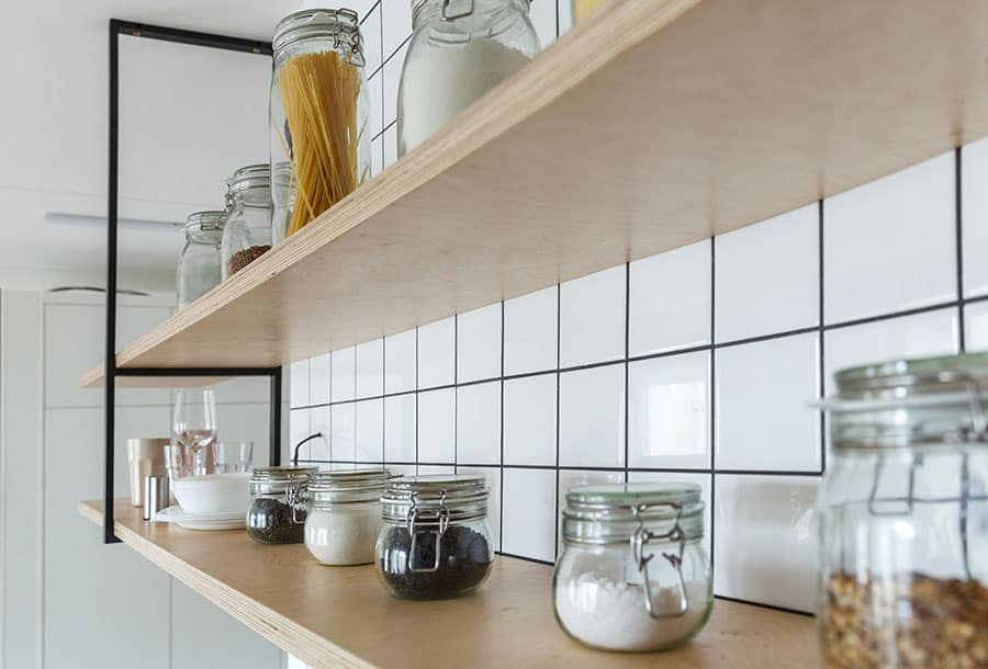 Keep Plywood Shelves from Sagging
