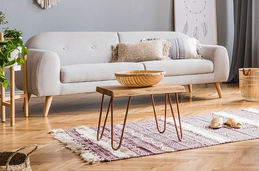 Accent Table With Basket